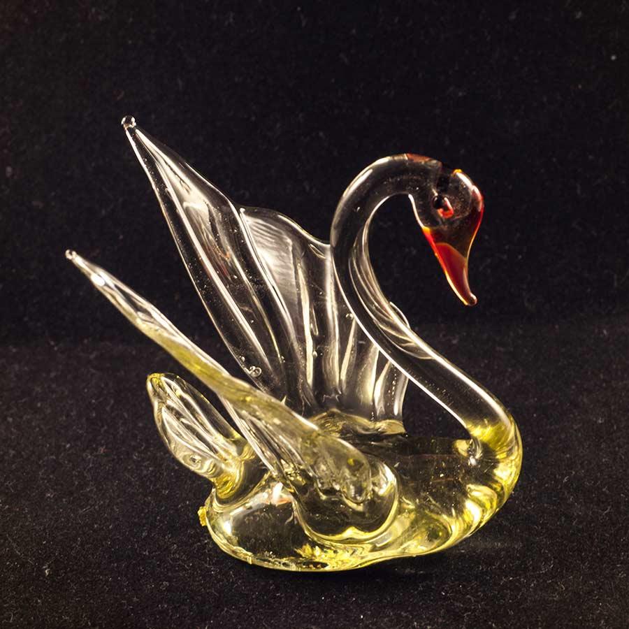 Стеклянная фигурка лебедь Птицы