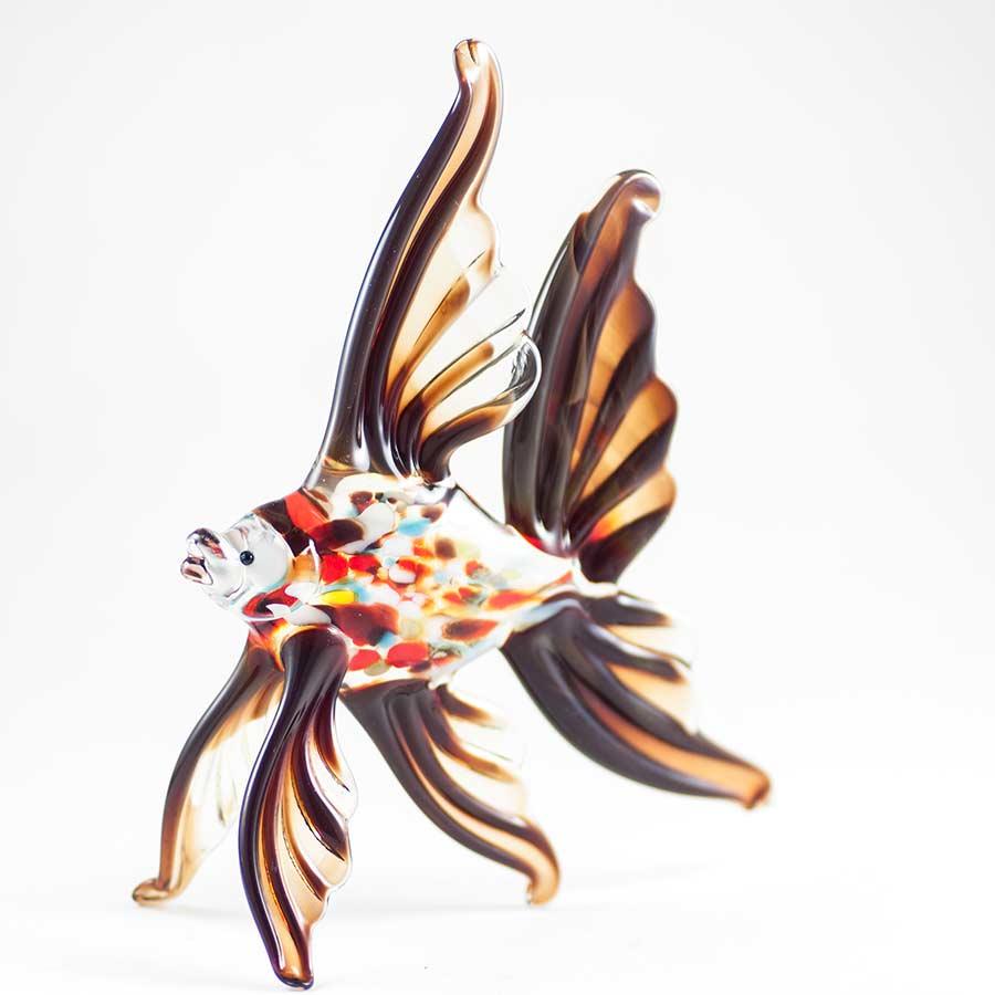Рыба красная стеклянная фигурка Рыбы