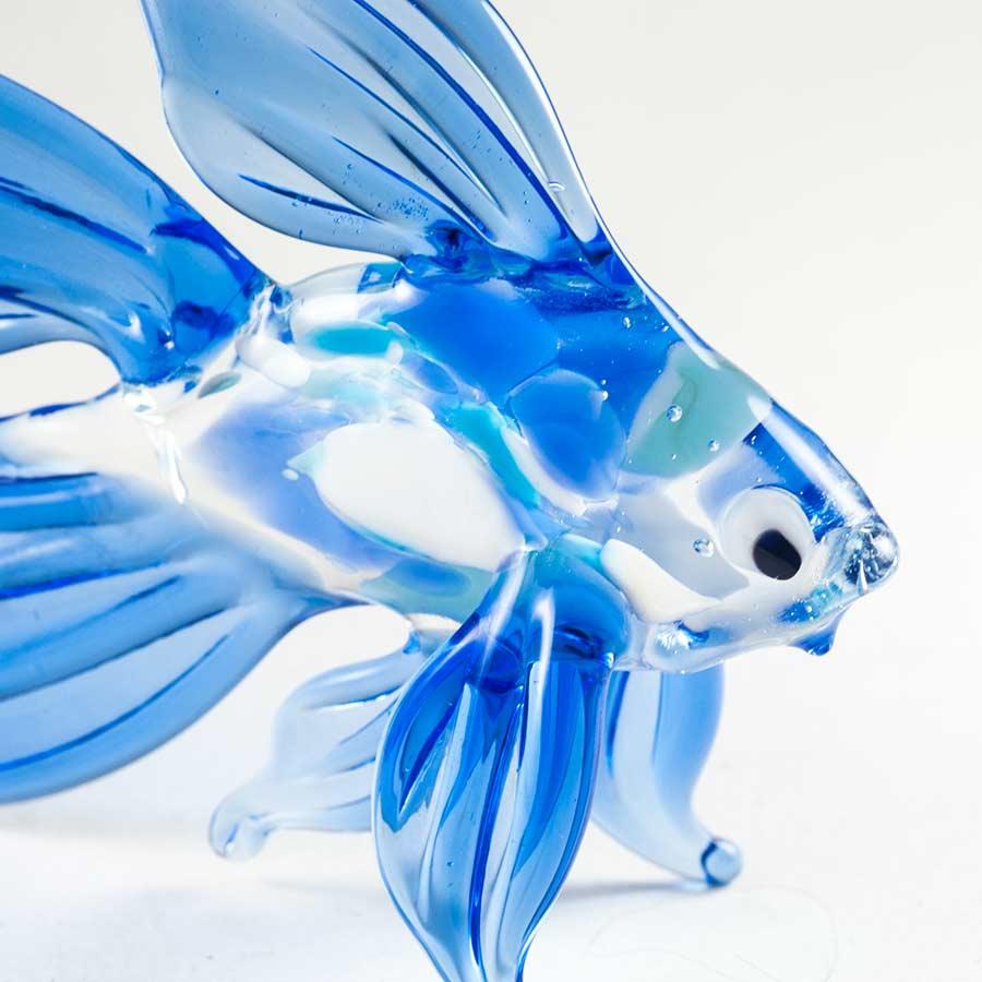 Рыба фигурка синяя Рыбы