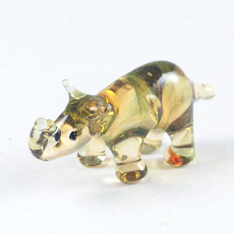 Носорог стеклянная фигурка Миниатюрные