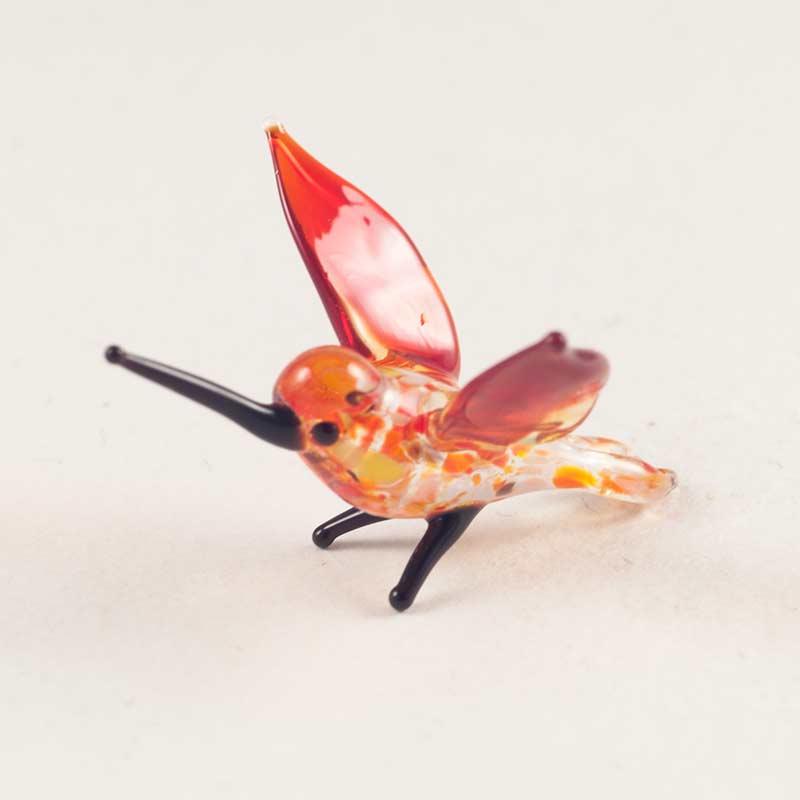 Колибри мини фигурка из стекла Миниатюрные