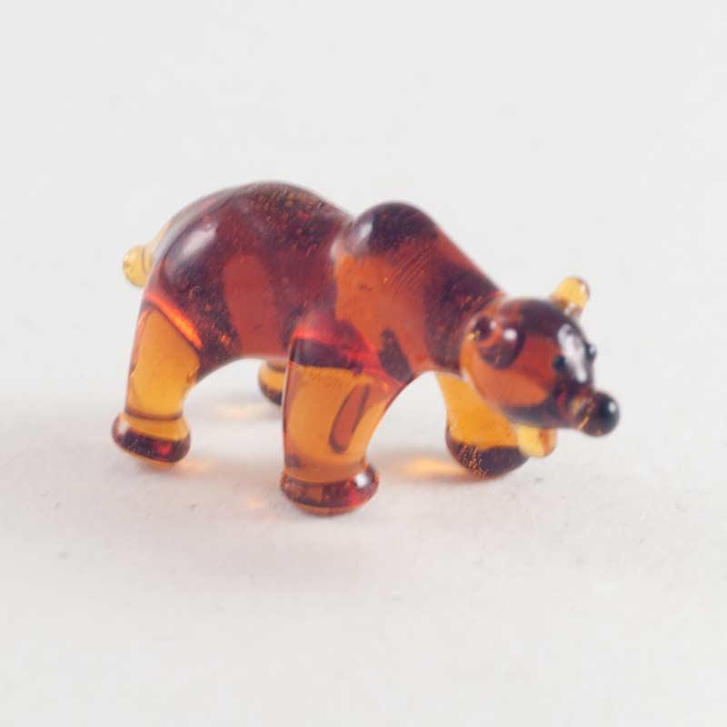 Медведь мини стеклянная фигурка Миниатюрные