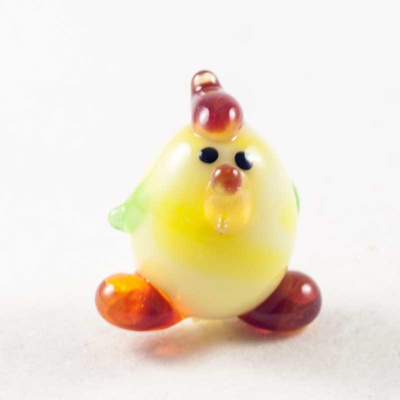 Цыпленок стеклянная фигурка Миниатюрные