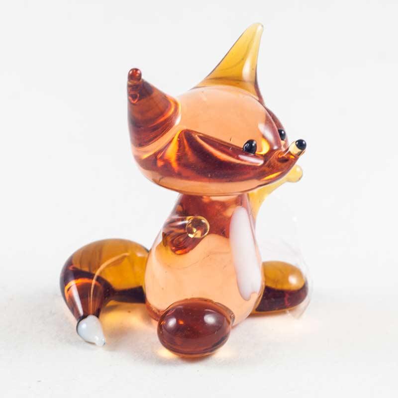 Лисичка стеклянная фигурка Животные