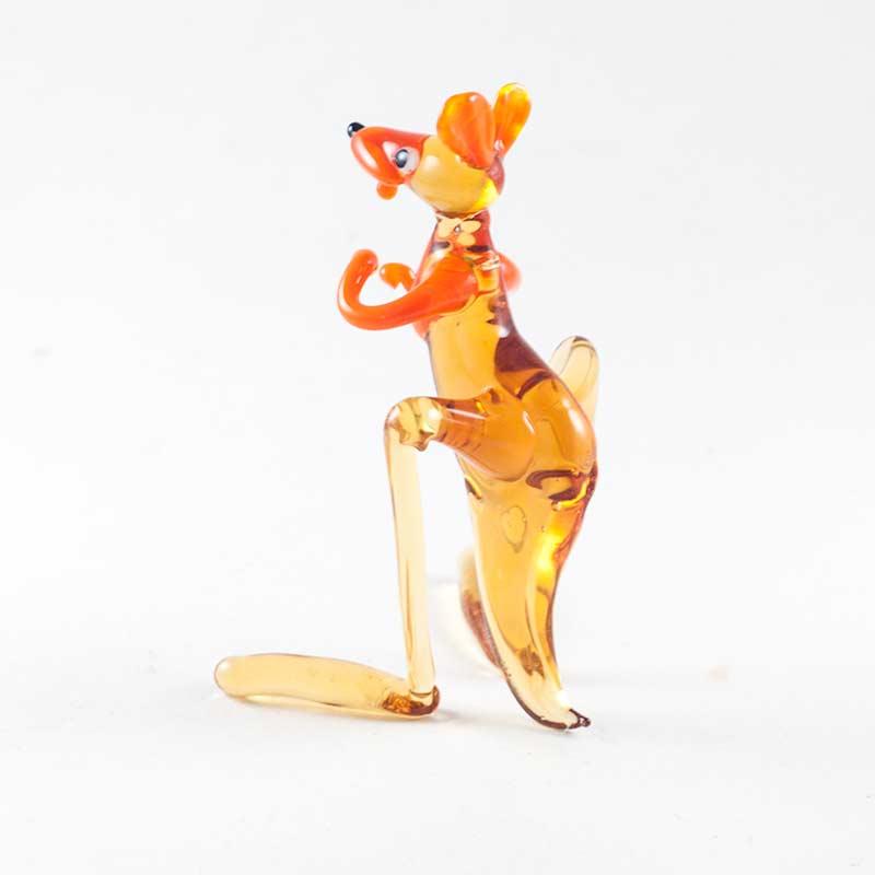 Кенгуру коричневый стеклянная фигурка Животные