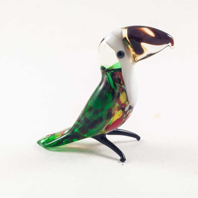 Птичка Туканчик стеклянная фигурка Птицы