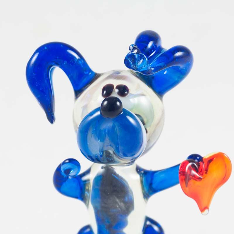 Веселый песик фигурка из стекла Собаки
