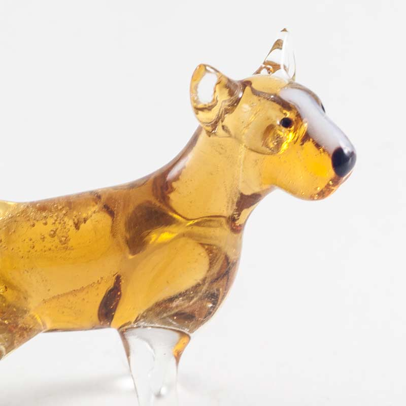 Бультерьер стеклянная фигурка Собаки