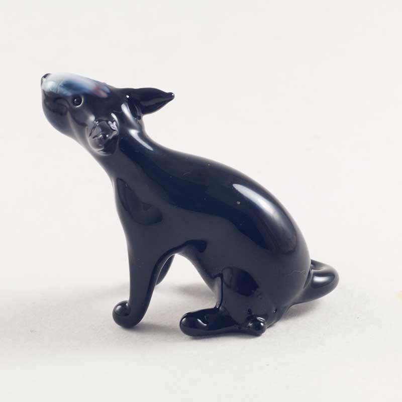 Бультерьер черный фигурка Собаки