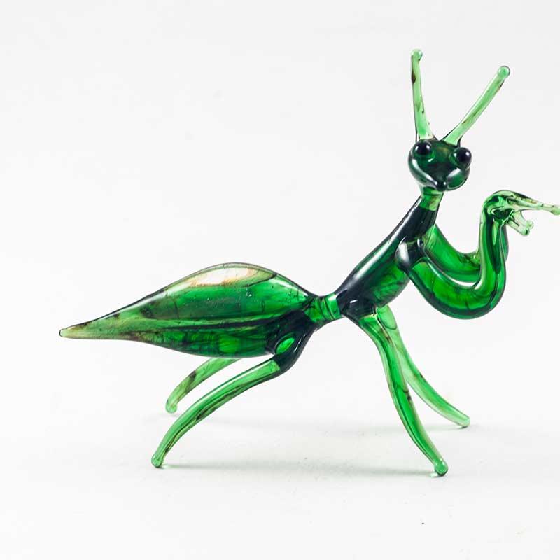 Богомол зеленый cтеклянная фигурка Насекомые