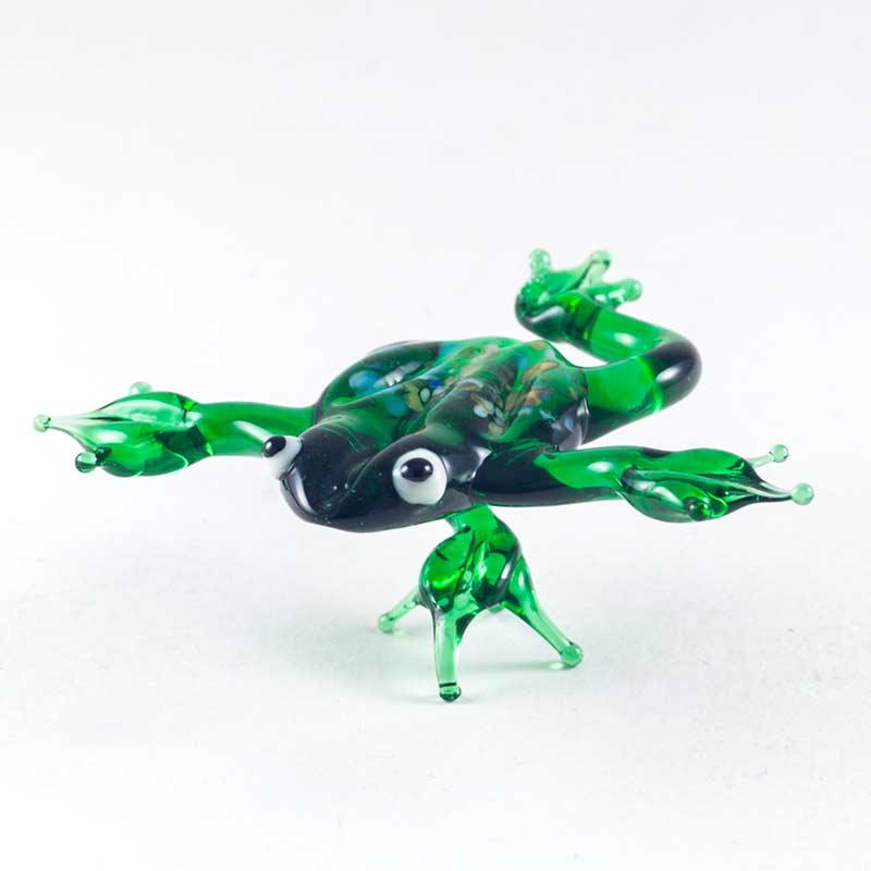 Стеклянная фигурка Лягушка на одной ноге Рептилии
