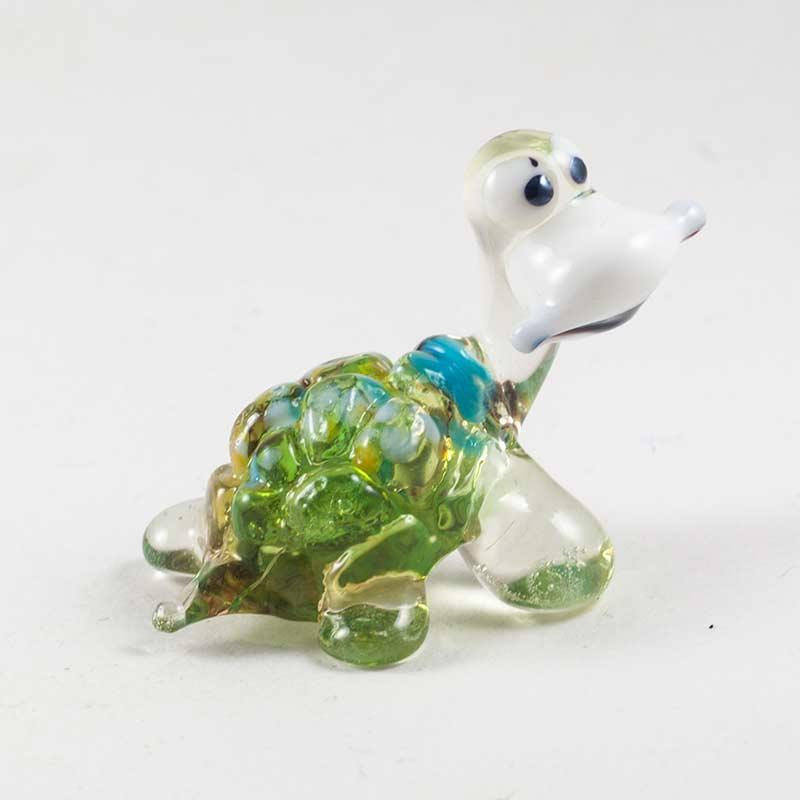 Веселая черепашка из стекла Рептилии