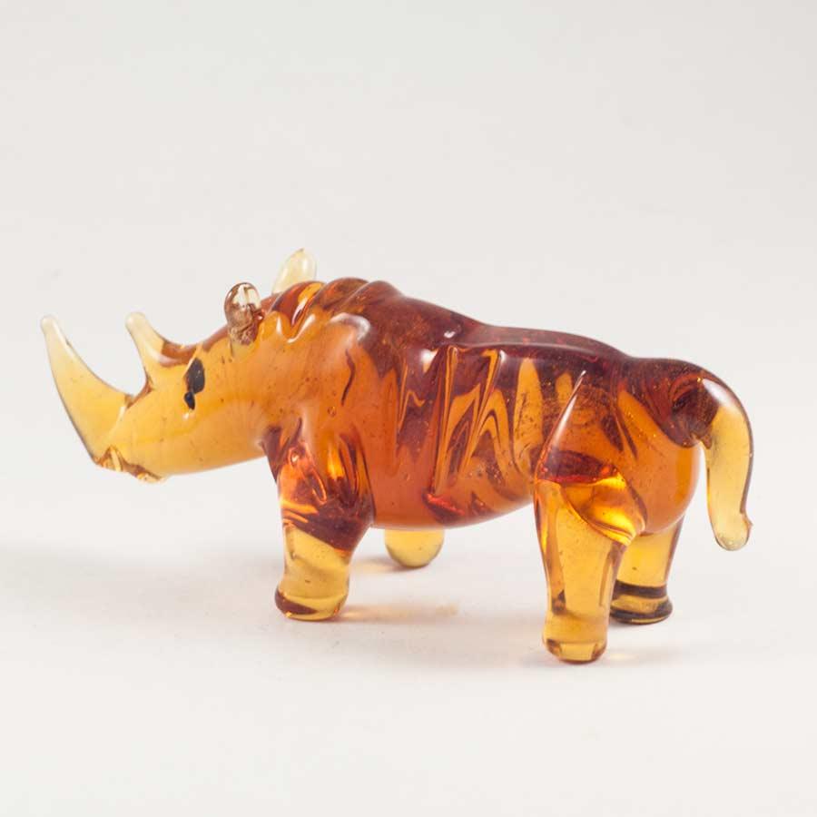 Носорог фигурка стеклянная Животные