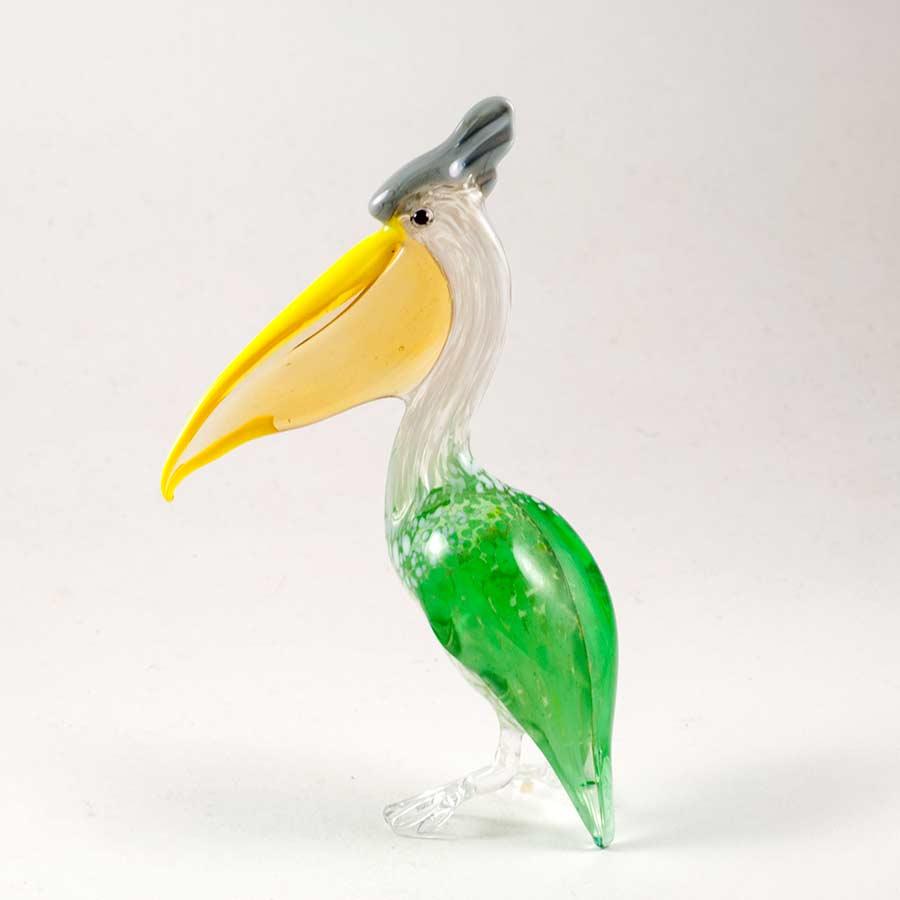 Пеликан стеклянная фигура Птицы