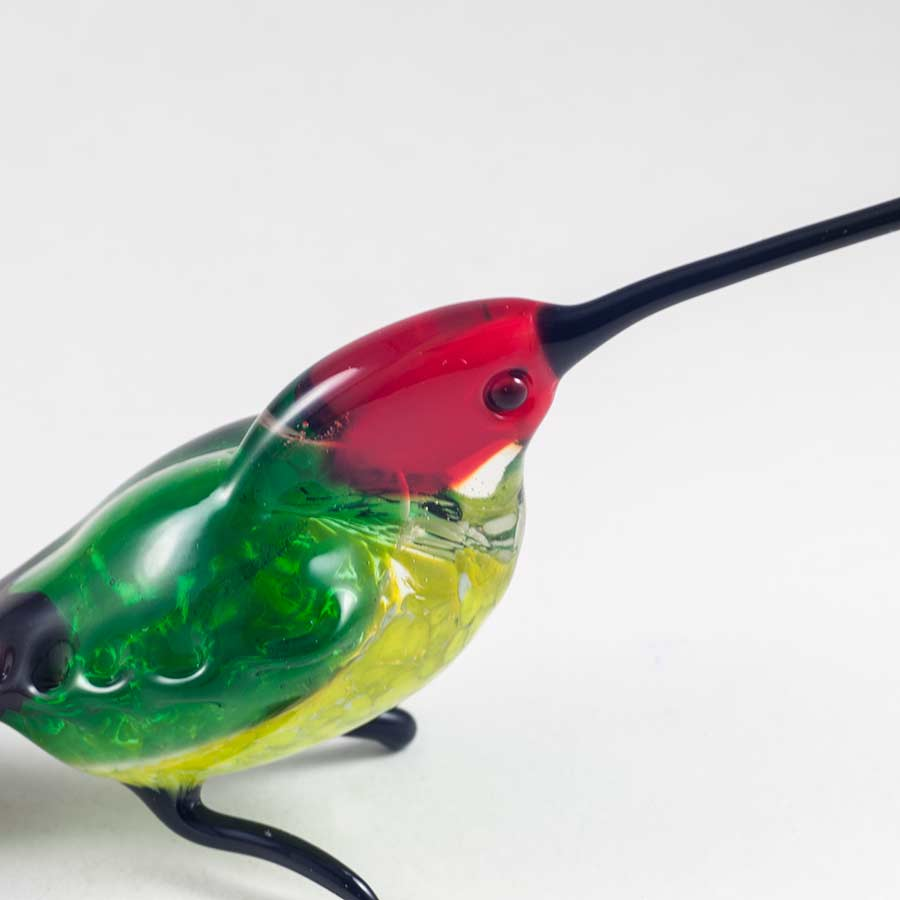 Фигурка стеклянная колибри Птицы