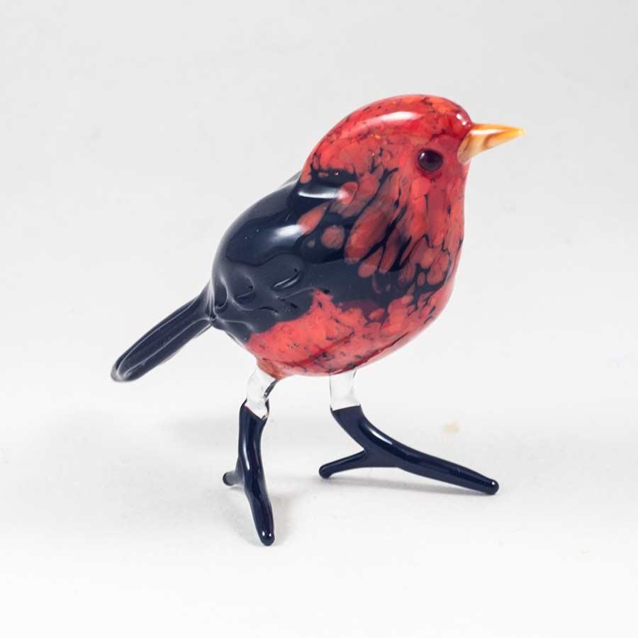 Снегирь стеклянная фигурка Птицы