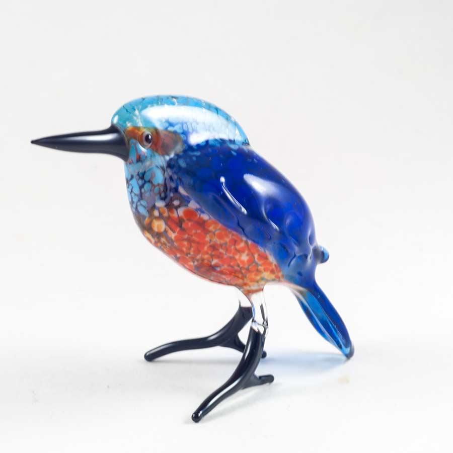 Зимородок стеклянная фигурка Птицы