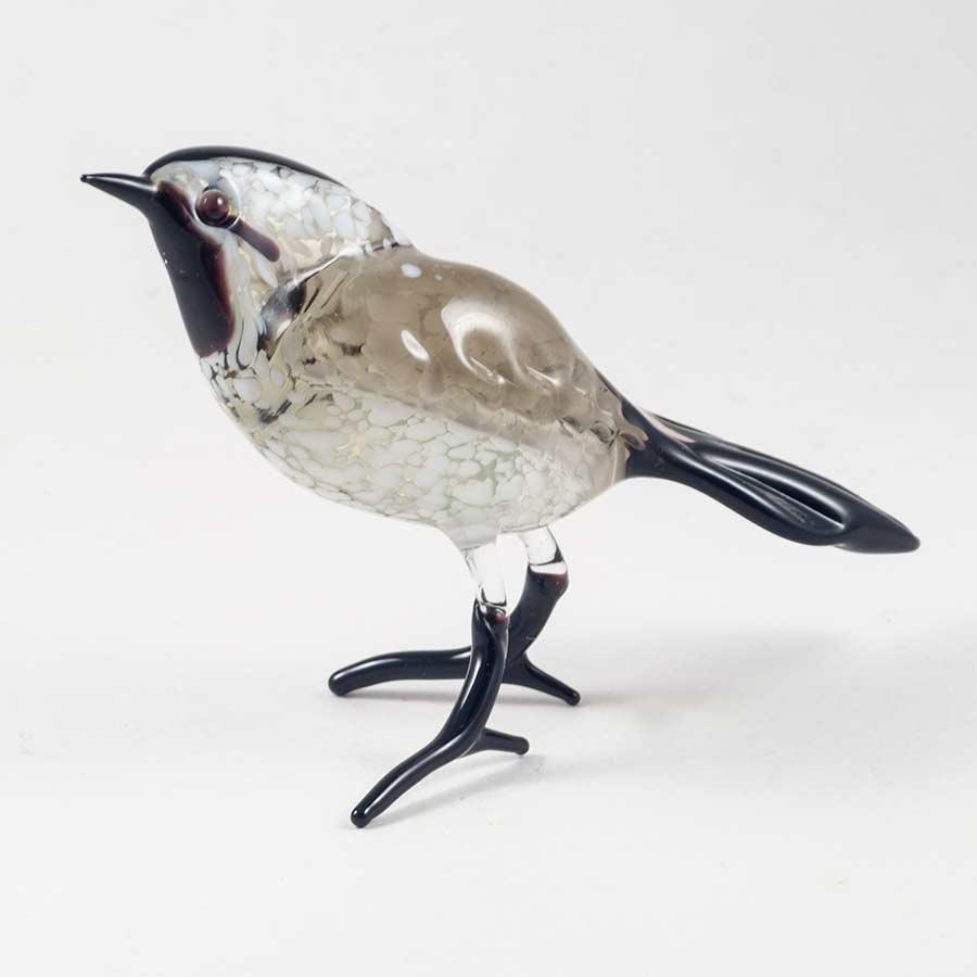 Трясогузка стеклянная фигурка Птицы