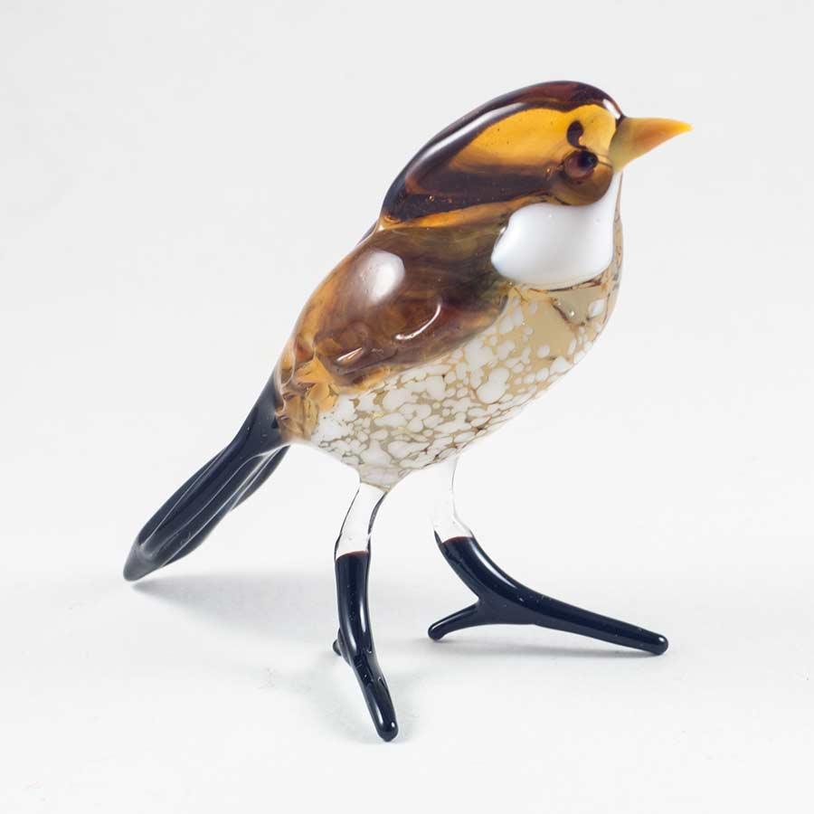 Дрозд фигурка из стекла Птицы