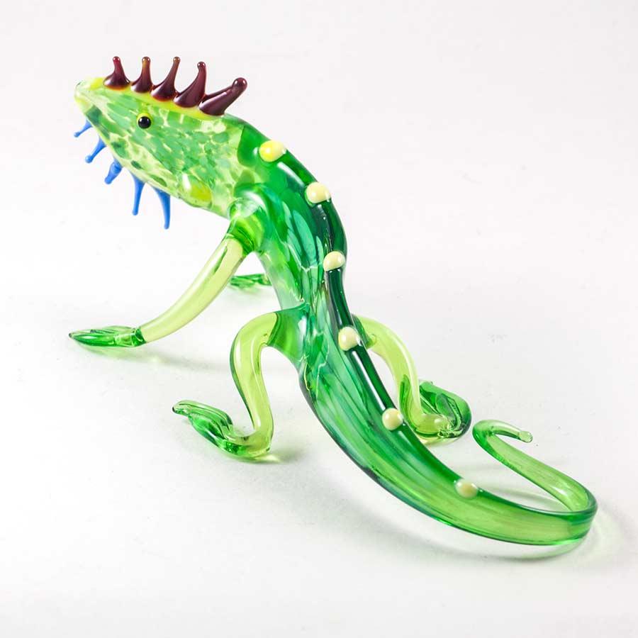 Стеклянная фигурка Игуана Рептилии