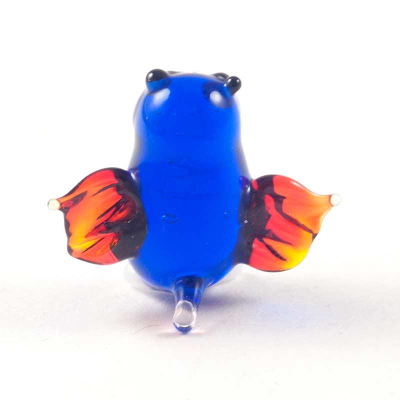 Сова синяя маленькая фигурка Миниатюрные
