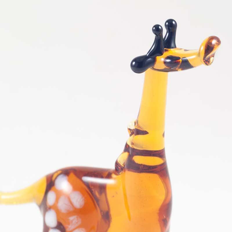 Фигурка стеклянная Жираф коричневый Животные
