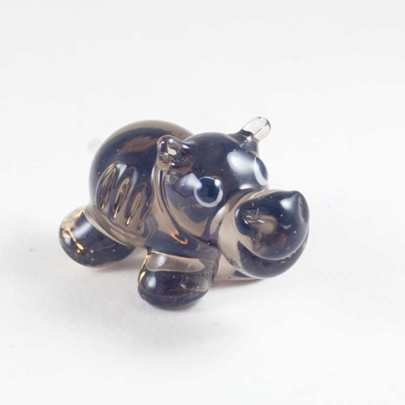 Бегемот стеклянный коричневый Животные