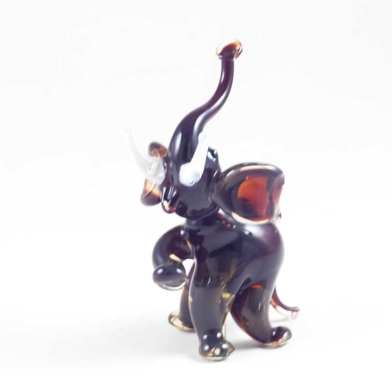 Фигурка стеклянная слон бордовый Животные