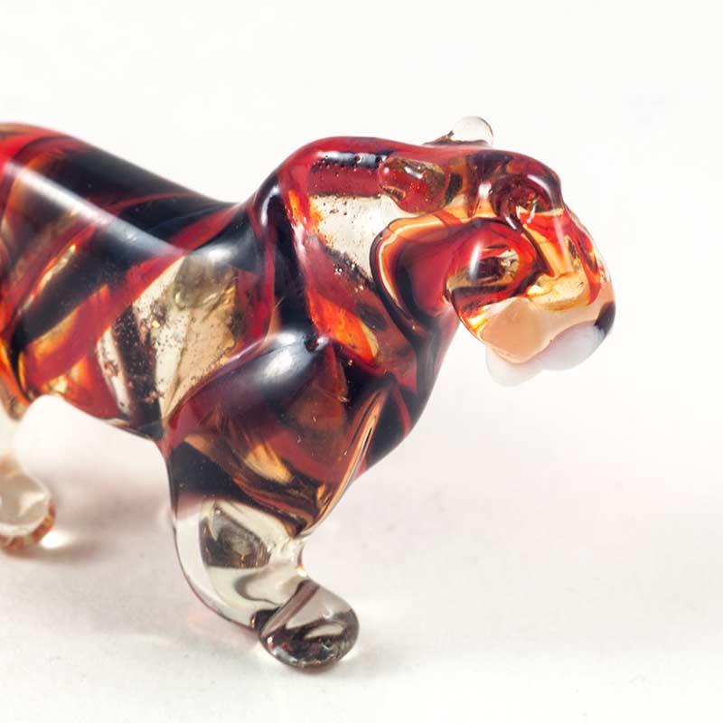 Фигурка тигр желтый красный Животные