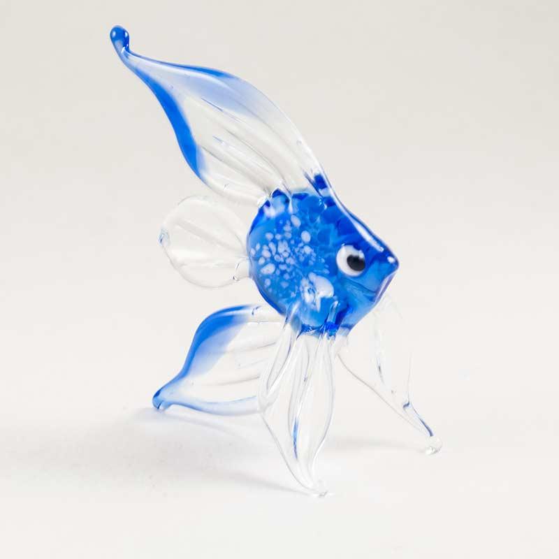 Фигурка золотая рыбка голубая Рыбы