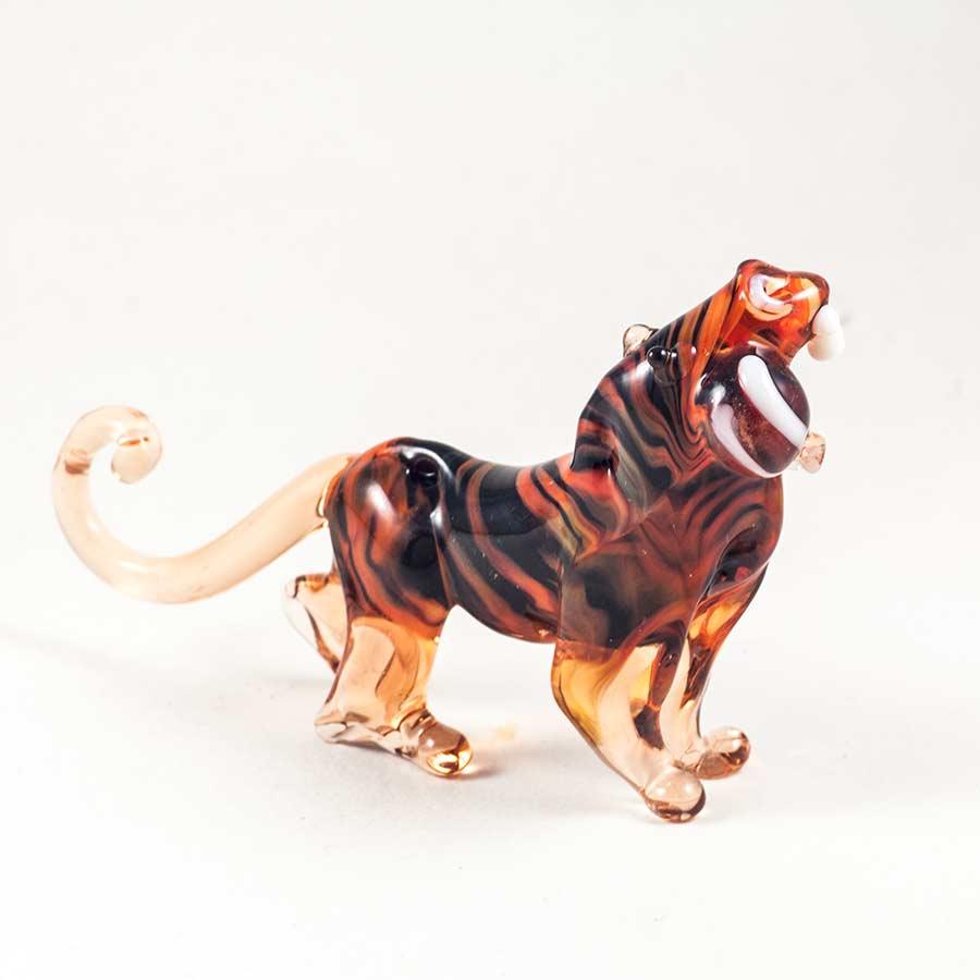 Тигр стеклянная фигурка Животные