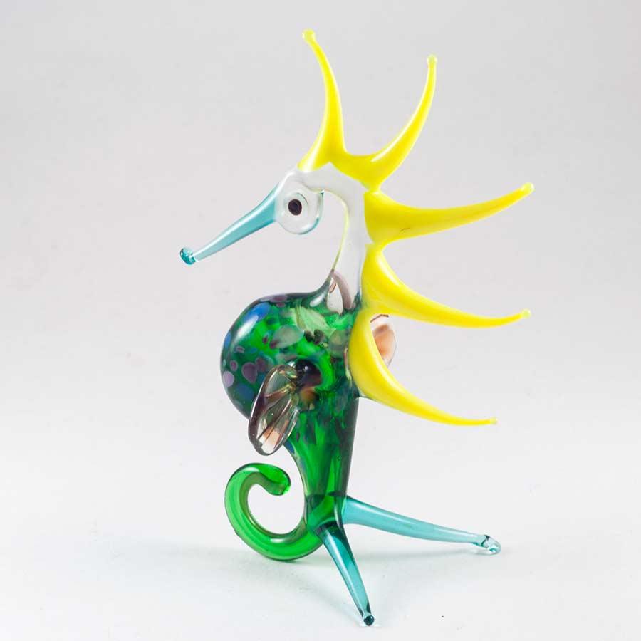 Фигурка Конек морской зеленый Рыбы