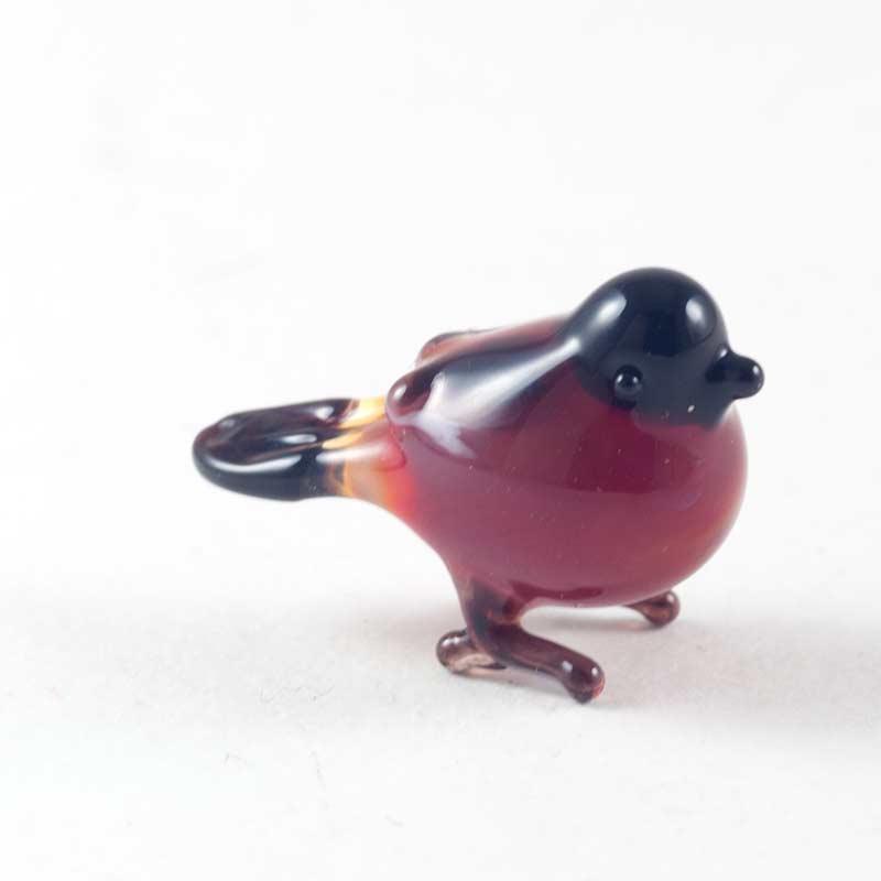Cтеклянная фигурка птичка снегирь Миниатюрные