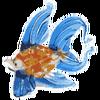 Стеклянные фигурки морских обитателей