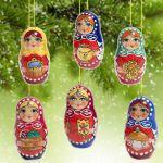 Новогодние украшения Матрешки Игрушки на елку