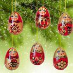 Новогодние украшения Хохлома Игрушки на елку