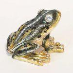 Шкатулка зеленая лягушка