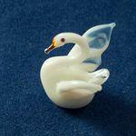 Белый лебедь мини фигурка Миниатюрные
