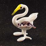 Стеклянная фигурка маленький лебедь Птицы