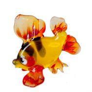 Золотая рыбка фигурка из стекла, фото 1
