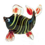 Рыбка  полосатая фигурка стеклянная, фото 1
