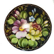 Цветы на черном фоне, фото 1