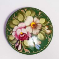 Цветы на зеленом фоне, фото 1