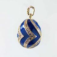 Кулон Уголки синий, фото 1