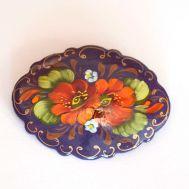 Яркие Цветы на фиолетовом фоне, фото 1