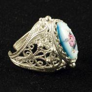 Кольцо финифть Сударушка, фото 1
