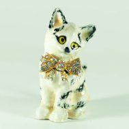 Шкатулка Котик с бантиком, фото 1