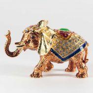 Шкатулка Слон золотой, фото 1