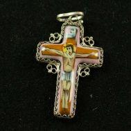 Эмалевый крестик со Спасителем, фото 1