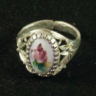Кольцо финифть Весеннее фиолетовое, фото 1